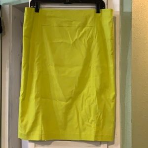 Premise XL Neon Yellow Green Pencil Skirt Stretch!